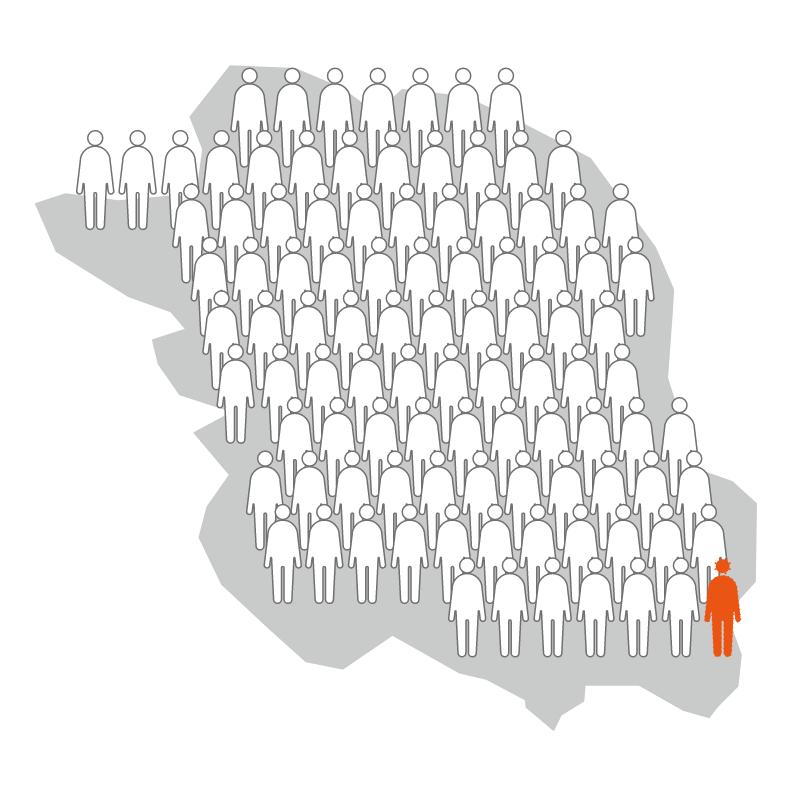 第1波の後の宇都宮市民の抗体保有率(感染率)は1.23%